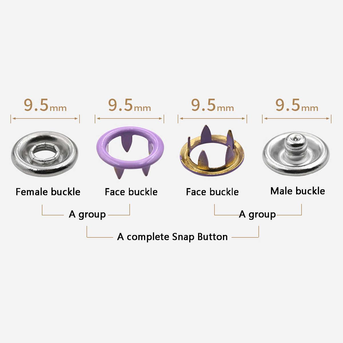 9,5 мм 310 набор ручных инструментов 31 Цвета металлический штырь кнопка, фиксатор пресс-шпильки Ручные плоскогубцы кнопки зажим DIY аксессуары для одежды