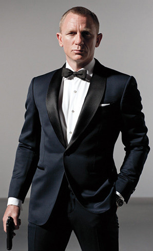 High Quality Custom Made James Bond Suit Dark Blue Tuxedo Jacket ...