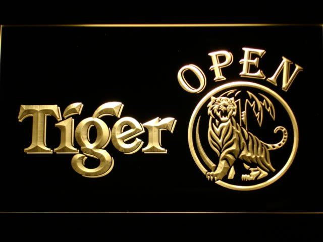 063 Tiger Beer OPEN Bar LED Neon Light Signs with On/Off Switch 20+ Colors 5 Sizes to choose