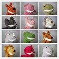 Suave sorriso Bonito Fox Macaco Crocodilo Hipopótamo De Pelúcia Boneca de Brinquedo Do Bebê Pillow Stuffed Plush Almofada Pintada