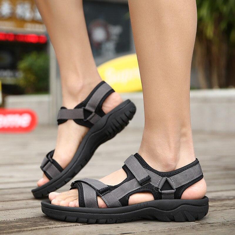 BACKCAMEL 2018 новые летние Стиль дышащие пляжные сандалии для Для мужчин Корейский диких Для Мужчинs Повседневное Для мужчин тапочки обувь неско...