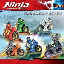 Hot Ninja Motorcycle Building Blocks Bricks Toys Compatible Ninja for kids gifts Carmadon Kai Jay Zane Cole Building Blocks lepin 06078 ninja toys seriescompatible with lego 70643 temple of resurrection set building blocks bricks kids christmas gifts