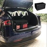 Car Trunk Storage box Organizer Bag For Tesla MODEL X MODEL S Car Parts Interior Accessories