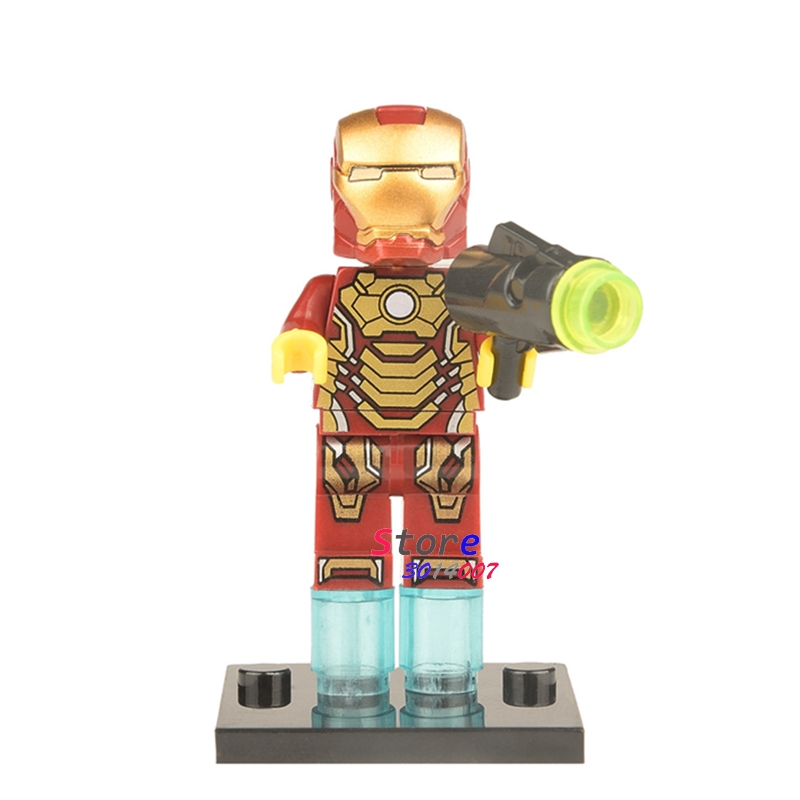 Single The Flash Wally west Iron Man Tony Stark Ego Wasp hush Mongul SpiderMan building blocks models bricks toys for children
