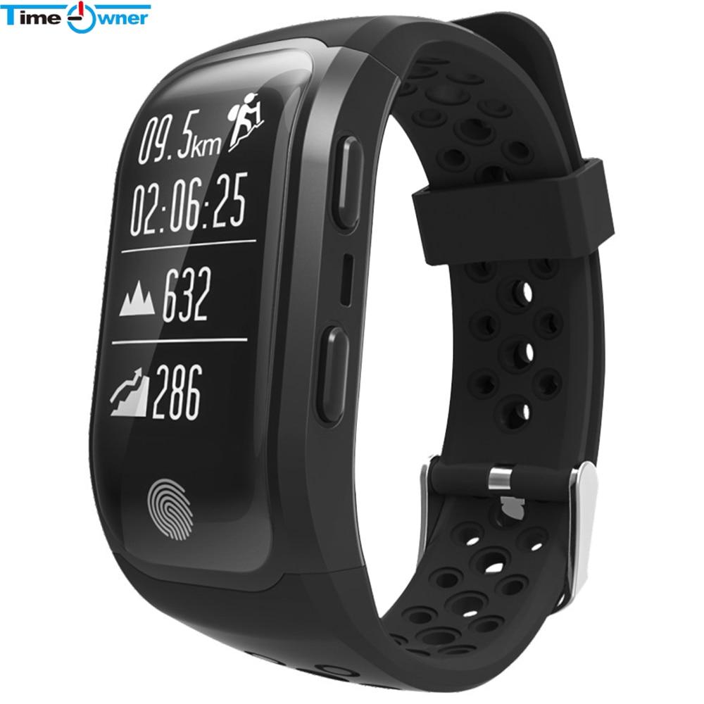 TimeOwner GPS Smart Band S908 Smart Wristband Sport Heart Rate Monitor Swim Waterproof Fitness Bracelet Tracker