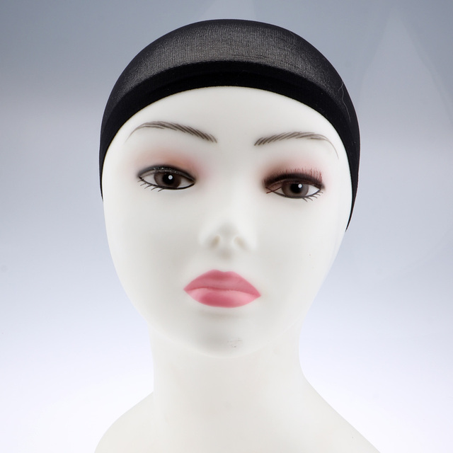 100Pcs Wholesale Breathable Black Spandex Dome Cap Mesh Hair Net for Making Wigs Snood Stretchy Wig Cap 3