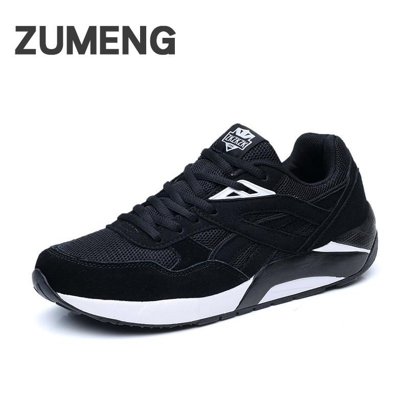 Mens casual comfortable spring fashion mesh and genuine leather sapato masculino social platform outside shoes free