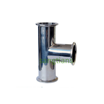 3 1/2'' 89MM SS304 clamped tee, Tee Stainless steel, Stainless steel pipe fitting,clamp tee,Sanitary Tee фото