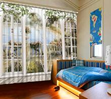 3d Curtains for the Living Room Simple Kitchen Window Curtains 3d Blackout Sheer Curtains