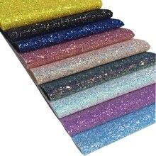 20*30cm Grade 3 Chunky Glitter Vinyl Fabric Sheet For Hair Bow DIY Decoration Crafts 1piece