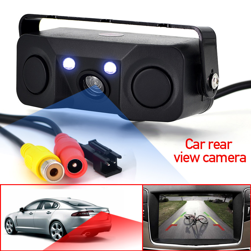 3 in 1 Car Parking sensor Rear View Camera with 2 Sensors Indicator buzzer Alarm Car Reverse Radar Assistance System car camera цены