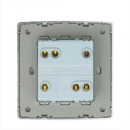 Wall Switch Socket Magnesium Aluminum Brushed Champagne Gold Panel 2 Gang 2 Way Switch AC 220 250 10A in Switches from Lights Lighting