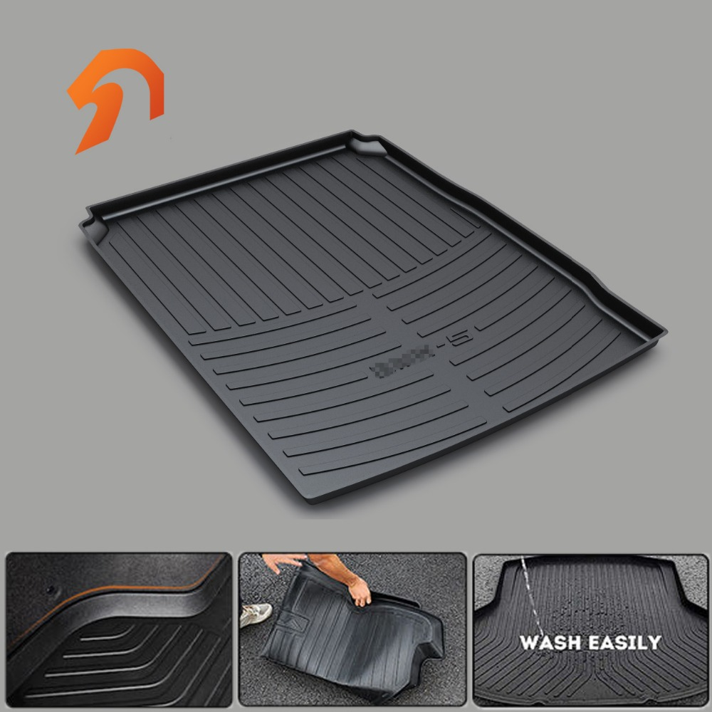 Rubber Rear Trunk Cargo Tray Trunk Cover Floor Mats FOR BMW E60 F48 E83 F25 E70 F26 F15 F16 235Series X1356 BOOT LINER REAR custom fit car trunk mats for nissan x trail fuga cefiro patrol y60 y61 p61 2008 2017 boot liner rear trunk cargo tray mats
