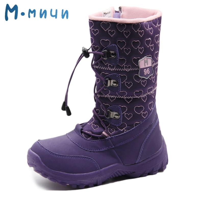 Mmnun Russian Famous Brand Winter Shoes For Girls High