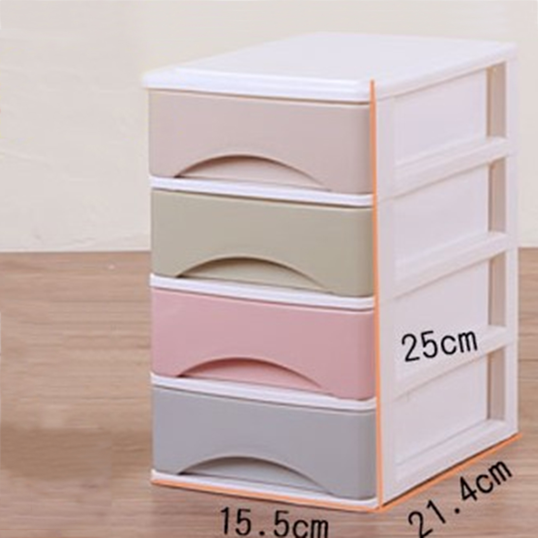 Macaron Color Four/Three Layers Draw-out Desk Storage Box Container For home office - Color Random