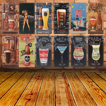 Get more info on the Home Decorative Retro Wall Stickers Ice Cold Free Beer Here Painting Art Poster Antique Box For Medal Tin Signs Bar Pub Club C22
