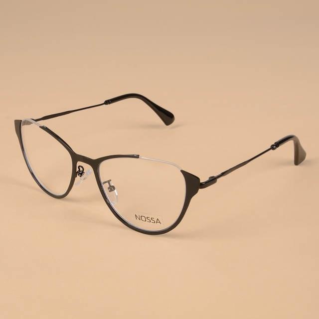 d66ba8dfeaa Online Shop Cat Eye Women Metal Optical Glasses Frame Female Personality  Myopia Frame Cool Eyeglasses Lady Cateye Spectacle Casual Eyewear