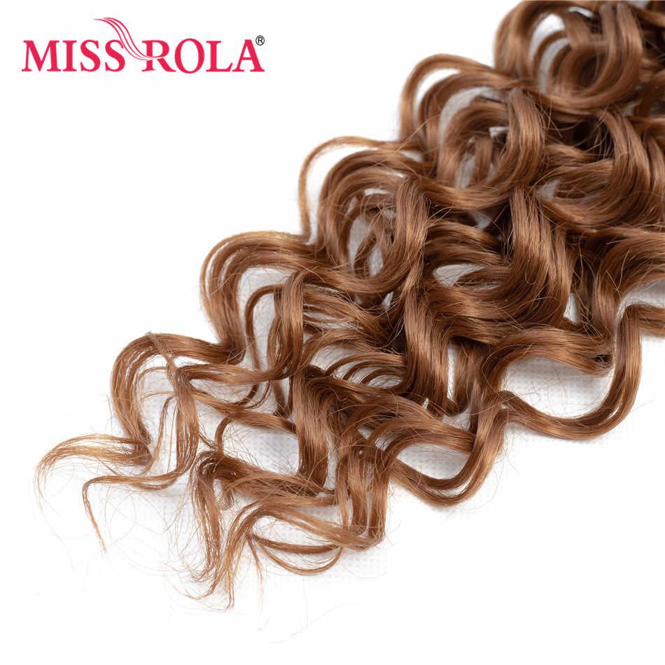 Miss Rola extensiones de cabello rizado sintético Ombre color de pelo que teje paquetes de 16-20 pulgadas 6 unids/pack 200g T1B /30 con cierre gratuito