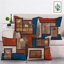 KYYZROZZZ Vintage style decorative throw pillow case cover european retro home textile cushion cover for sofa home decor 45x45cm
