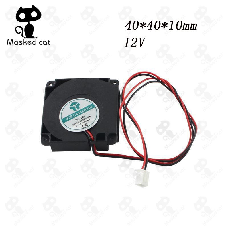 1pcs 3D Printer Kit 12V/24V 40*10mm 4010 Hydraulic Bearing Blow Radial extruder Cooling Fan Turbo Fan with XH2.54-2P Wire sunon original kde2404pfv3 double ball bearing cooling axial fan dc 24v 0 9w 4010 40 40 10mm 100 pcs lot