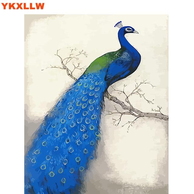 الطاووس فينيكس الرسم بواسطة أرقام مجموعات خلاصة دهانات الرقم النفط