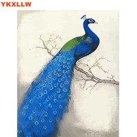 Peacock phoenix Malowanie Przez Numery Zestawów Numer Obraz Olejny Streszczenie Farby Rysunek Zdjęcia Na Płótnie salon Dekoracji