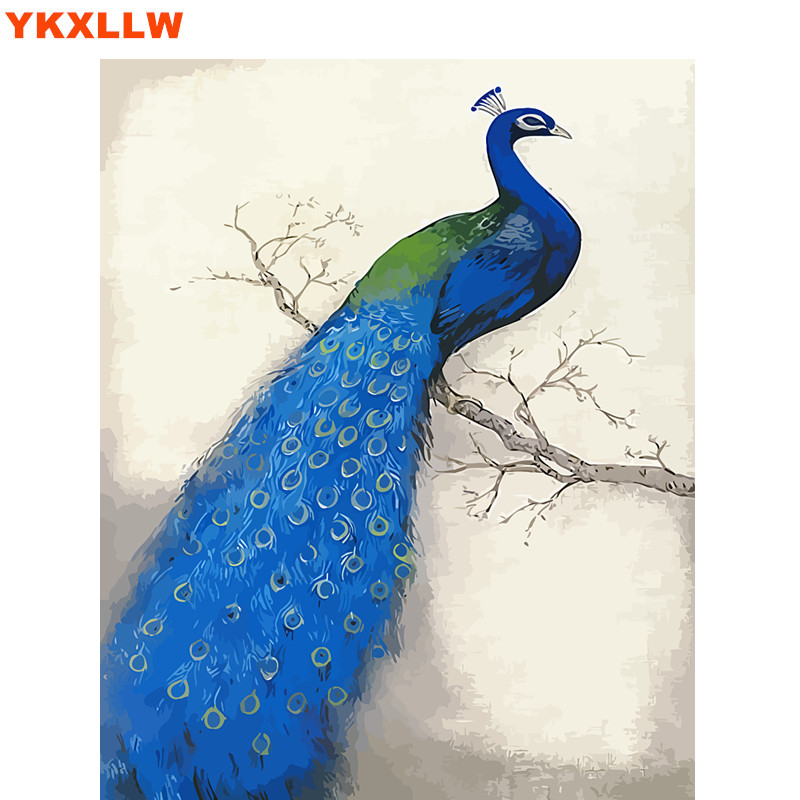 Peacock phoenix Painting By Numbers Kits Abstract Paints Number Oil