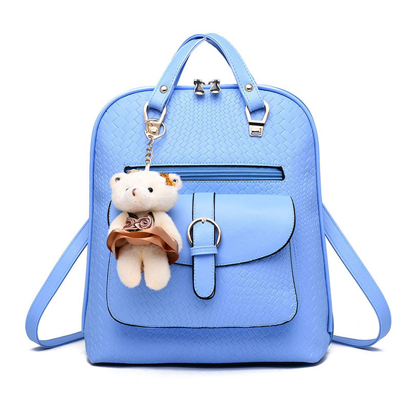 Fashion PU Women's Backpack Bag Traveling Pratical Sky Blue Students' Schoolbag blue sky чаша северный олень