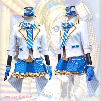 2018 New LoveLive! Card HR Ayase Eli Cosplay Costume Fancy Dress Adult Costumes Carnival/Halloween Costumes for Women S-XL 1