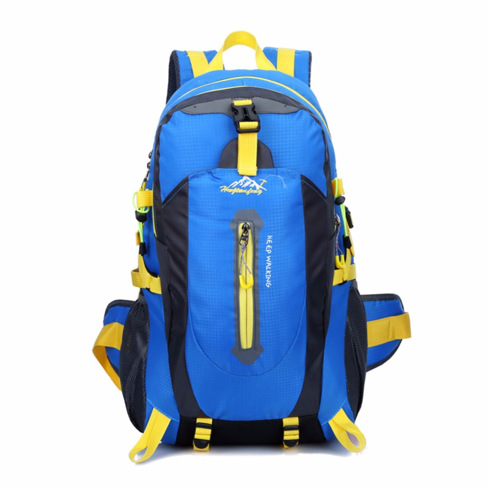 40L Waterproof Nylon Women&Men Travel Hiking Backpack Camping Climbing Rucksack Mountaineering Hiking Cycling Outdoor Sports Bag