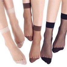 20 шт. = 10 пар, летние женские короткие носки из бамбука женские носки тонкие прозрачные шелковые носки для девочек