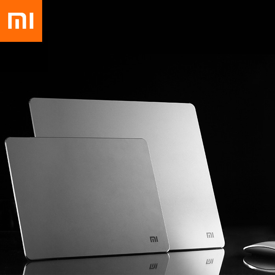 2017 Original Xiaomi Metal Mouse Pad High Quality 18*24cm*3mm 32*24cm*3mm Luxury Simple Slim Aluminum Computer Pads Frosted