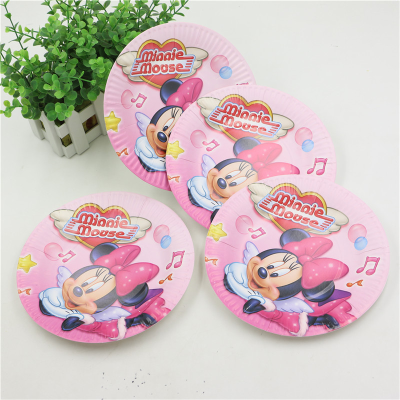 36pcs Lovely Minnie Mouse Theme Disposable Tableware Party Set Paper Cup+ Plate+Straw for12 Girl Kids Birthday Party Decorations on Aliexpress.com | Alibaba ...  sc 1 st  AliExpress.com & 36pcs Lovely Minnie Mouse Theme Disposable Tableware Party Set Paper ...