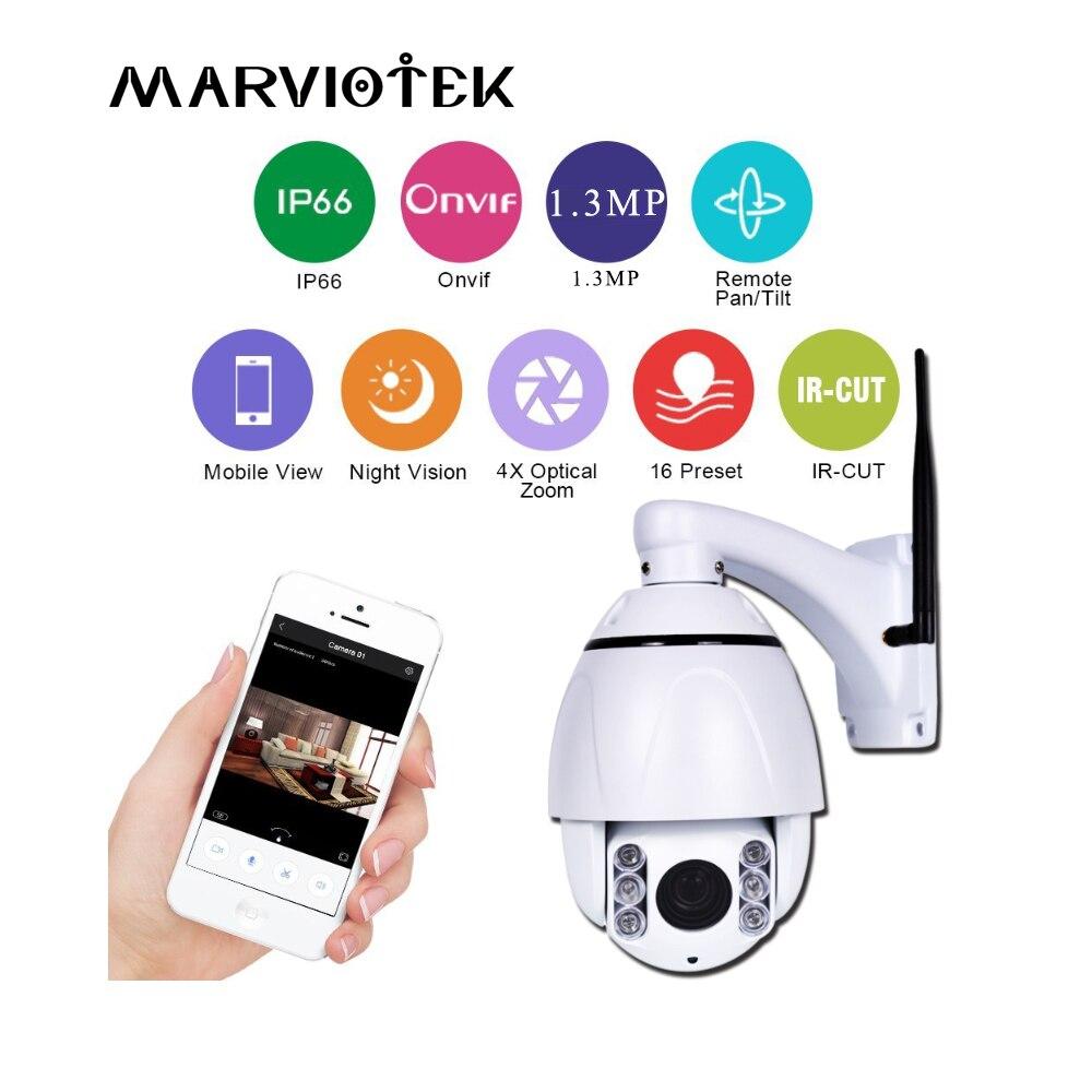 Caméra IP dôme haute vitesse PTZ 4X Zoom Wifi 960 P caméra de sécurité IP caméra dôme de Vision nocturne sans fil extérieure étanche Onvif