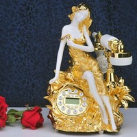 Special offer French fashion beauty parlour series of three dimensional carved antique telephone phone phone