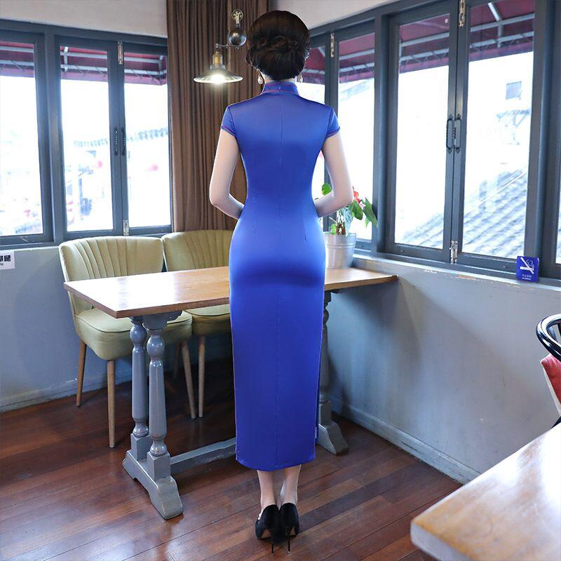 Mince 274 Qipao Taille Style Robe Élégante Robes Xxxl Femmes De Long Cheongsam Rayonne Mode S Xl Arrivée 275 L 125708 M Xxl Chinois Nouvelle 8nOXwk0P