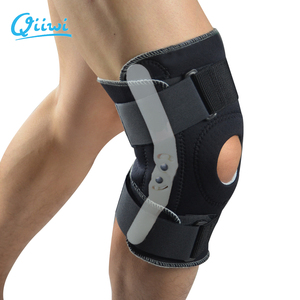 Image 5 - Professional Sports Safety Knee Support Brace Stabilizer with Inner Flexible Hinge Knee Pad Guard Breathable Protector Strap