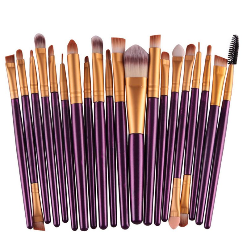 20 pcs Professional Soft Cosmetics Beauty Make up Brushes Set Kabuki Kit Tools maquiagem Makeup Brushes