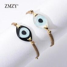 ZMZY Turkish Evil Eye Female Bracelet Women Bracelets Jewelry Charm Friendship Bracelets Boho Style Women Accessories