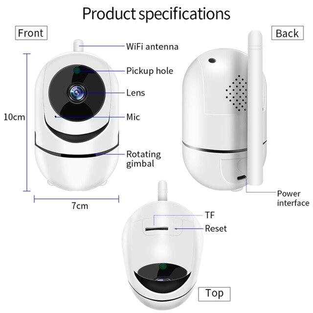 QZT IP Camera WiFi Camera IP 360 Night Vision Baby Monitor Indoor 6