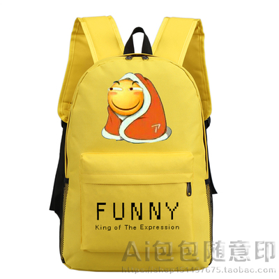 Funny face posted hot expression Funny backpack students bag backpack casual bag