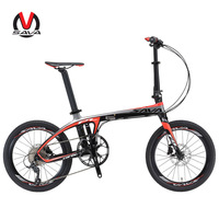 SAVA Folding Bike Carbon Folding bicycle 20 inch portable bike with SHIMANO 105 5800 22 Speed Bike Disc Brake bicicleta plegable