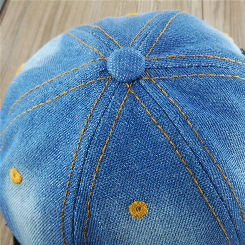 2015 women cowboy hat crown Denim Jeans washed cotton glitter rhinestones  snapback baseball cap-in Baseball Caps from Apparel Accessories on  Aliexpress.com ... b861a2ce1bc0