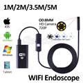 HD720P WIFI Endoscope Camera 8mm Lens 5M 3.5M 2M 1M Snake Pipe Inspection Iphone Borescop For Android For IOS Tablet HD Camera