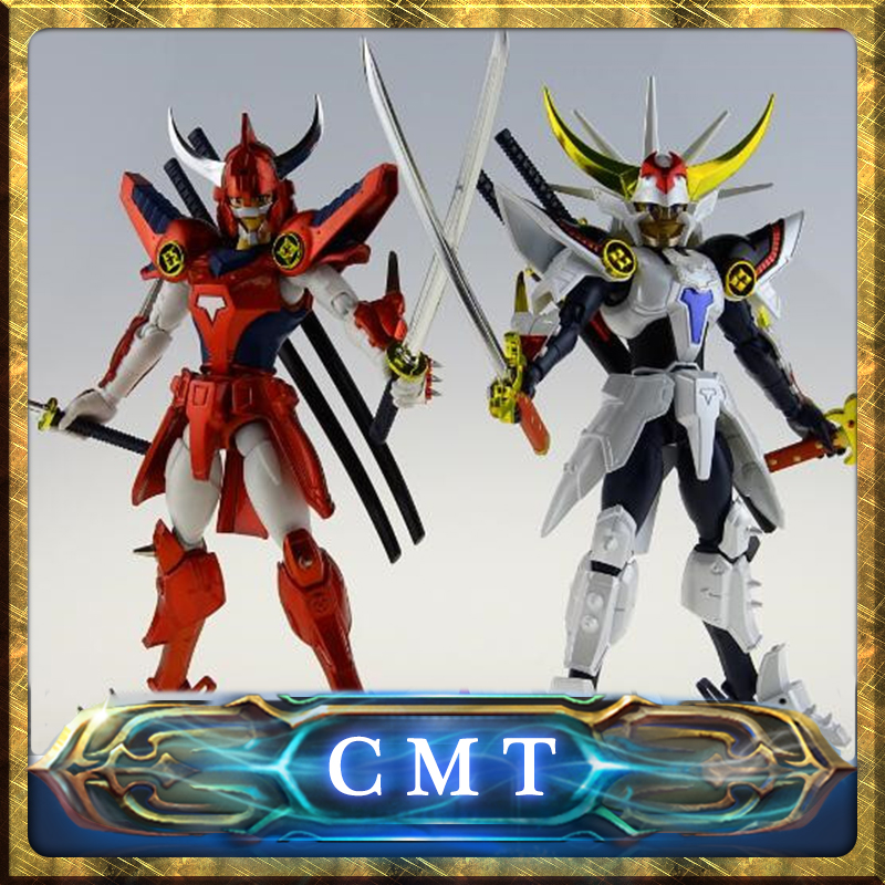 CMT In Stock DATONG assembly model Ronin Warriors Yoroiden Samurai Trooper Flame of God Ryo Anime PVC Action Toys Figure пинетки для девочки kapika цвет фуксия белый 10123 размер 16