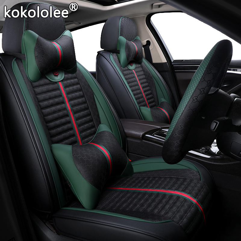 kokololee Cloth car seat covers for <font><b>audi</b></font> a3 8l 8p <font><b>sportback</b></font> a4 <font><b>b8</b></font> avant <font><b>a5</b></font> <font><b>sportback</b></font> a6 4f tt mk1 A1 A3 A6 A7 Q3 Q5 Q2 car seats image