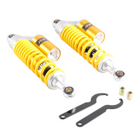 340mm/13.5 Pair Air Rear Shock Absorbers Fit for Honda Yamaha Suzuki