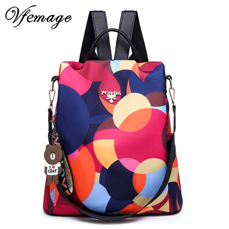 Vfemage 2019 Oxford Backpacks Women Anti Theft Backpack Female Travel Bag Small Cute Backpack Women Schoolbags For Girls Mochila