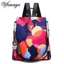 Vfemage mochilas de estilo Oxford antirrobo para mujer, morral pequeño de viaje, escolar, 2019