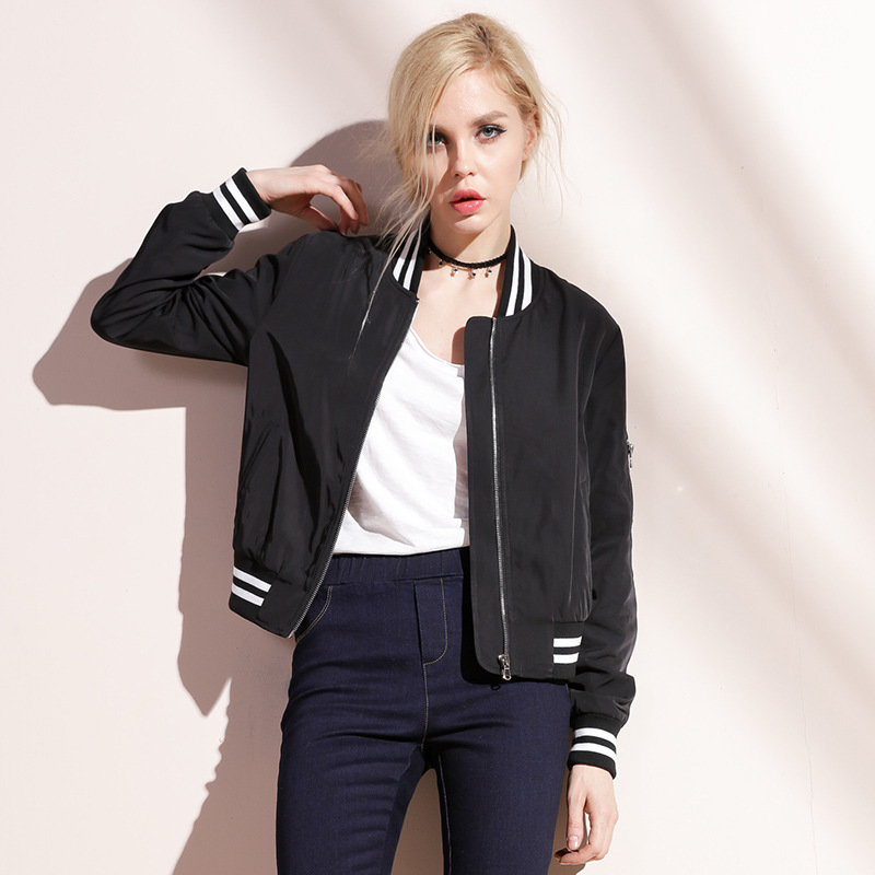 Aliexpress.com : Buy OYCP Back Letter Print Black Bomber Jacket ...